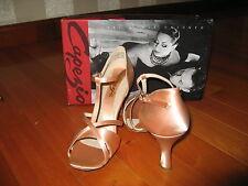 "NIB Capezio Latin/Ballroom/Salsa/Competition/Dance Woman's Shoes Sz 9.5 heel 3"""