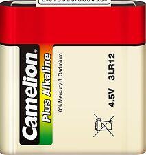Piles Camelion alcalines 4 5v 3lr12 (r12) plates Languettes sous cello