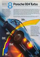 1980 1981 Porsche 924 Turbo - Orientation - Classic Vintage Advertisement Ad D30