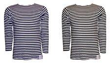 Sailor Top Russian Telnyashka Navy Black Striped Long Sleeve T Shirt Cotton New