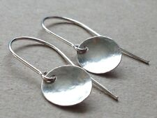 Beautiful Hammered Sterling Silver Dome Earrings