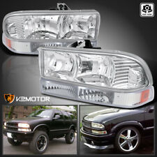 1998-2004 Chevy S10 Pickup Blazer Crystal Headlights +Bumper Parking Lamps Light