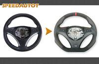 Échange Aplati Alcantara Volant en Cuir BMW M-POWER E93 E82 E90 E91 Neuf Cuir