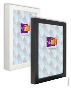Vivarti Large Box Picture Photo Certificate Frame Black White Oak A1 A2 A3 A4