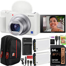 Sony ZV-1 Digital Vlogging 4K Video Camera Content Creators 2 Battery Bundle