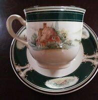 Superb Ireland Keltcraft Noritake Pursuit English Cottage&Hunt Footed Cup &Sauce
