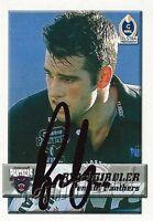 ✺Signed✺ 2002 PENRITH PANTHERS NRL Card RYAN GIRDLER Daily Telegraph