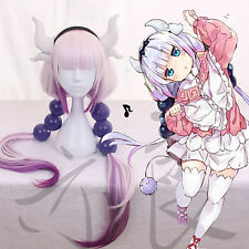 Miss Kobayashi's Dragon Maid Kanna Kamui Full Wig Cosplay Hair Wig + Horn+Ball 6