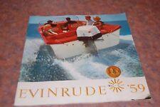 1959 Evinrude Outboard Motors Catalog 50th Jubilee