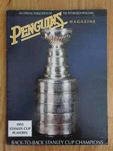 1993 Stanley Cup Playoffs PITTSBURGH PENGUINS vs NEW JERSEY DEVILS Program