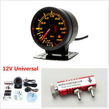 12V Car Turbo Boost Gauge 3 Bar Meter &Sensor +Controller Kit 1-30PSI Adjustable