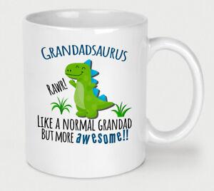 Grandadsaurus Mug Grandad Dinosaur Cup Birthday Christmas Fathers Day Funny Dino