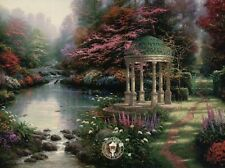 The Garden of Prayer - Painter of Light Art Card, Thomas Kinkade Dealer Postcard
