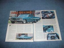"1961 Chevy Impala Bubbletop Vintage Article ""Subtly Pro Street"""