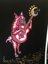 PUG PLAYING GUITAR - Fine Art Giclee Print, NEW ORLEANS ARTISTJamie Hayes SIGNED