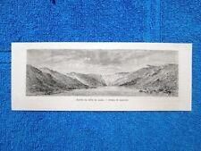 Gravure Année 1865 - Entrée du défilé de Kazan(Russie)-Ingresso della gola Kazan