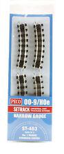 St-403 PECO 00-9 / Hoe Numéro 1 Rayon Standard courbes 8-pack Modélisme