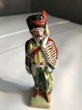 Ancienne Figurine Militaire Soldat en Porcelaine de Saxe