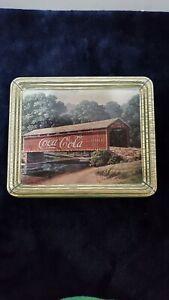 1997 Coca-Cola Collectible Tin Covered Bridge Jim Harrison Landscape