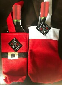 Christmas Novelty Santa Bottle Bags