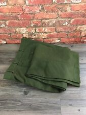 BROOK TAVERNER Men's Army Green 100% Cotton Thick Quality Trousers W42 L30