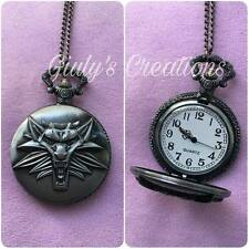 Collana orologio The Witcher wolf lupo logo videogames action fantasy cosplay