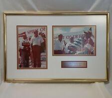 Rare Anheuser-Busch Framed Print Miss Budweiser Bernie Little Signed Tom D'Eath