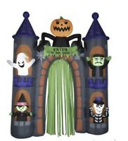 Halloween Haunted Airblown Castle Archway 9 Ft Tall Lights Up Gemmy