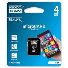 Scheda Di Memoria Memory Card Micro SD Microsd 4GB + Adattatore Sd Classe 4 linq