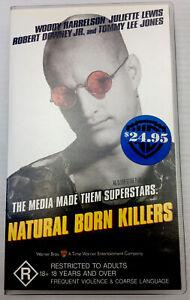 Natural Born Killers VHS Video Cassette Tape PAL Small Box R18+ 1996