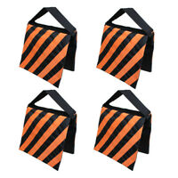 4x Photo Studio orange Sandbags Weight Sand Bags for Lighting Boom Arm Stand