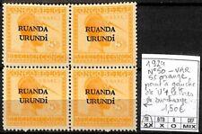 [841321] TB||**/Mnh || - Ruanda-Urundi 1924 - N° 50-VAR, 5c orange, point à gauc