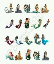 Mermaid Nail Decals Water Transfer decals!  Mermaid Nail Art