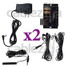 LOT x2 Hidden IR Remote Control Repeater Extender Infrared Emitter receiver Kit