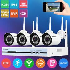 WIRELESS CCTV 1080P HDMI 4CH NVR WIFI CAMERA SECURITY SYSTEM KIT IP66 IR NIGHT