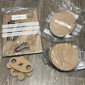 Dreamees MDF Wooden Shapes Bundle/ Lot Baubles Ovals Easel Collection Blanks