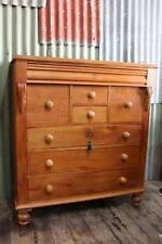 A Rare Tasmanian Huon Pine Chest of Drawers - Antique Victorian Tall Boy
