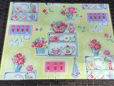 Cath Kidston RARE Kitchen Scene Worktop Saver 40x30cm