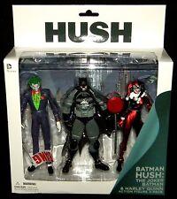 "DC Collectibles JOKER HARLEY QUINN STEALTH BATMAN Hush Series 3-pack Figure 7"""