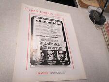 L ECRAN LORRAIN N° 295 JANVIER 1972 LE JARDIN DES FINZI CONTINI FABIO TESTI SAND
