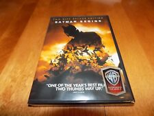 Batman Begins Two-Disc Deluxe Edition Dc Superhero Christian Bale Dvd Set New
