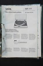 Saba PSP 350 original Service-Manual/Manual/esquema eléctrico top-Estado! o34