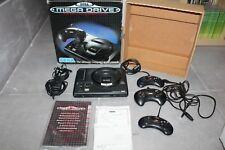 Mega Drive 16 Bit Sega Con Caja 3 Mandos Cableado e Instrucciones Funcionando