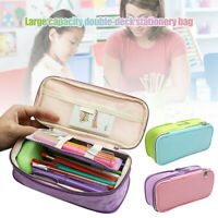 New! Zipper Pencil Case Pen Bag Pouch School Supplies Large Capacity for Student