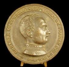 Médaillon au noble breton Bertrand Du Guesclin signé Artus Despagne Bretagne