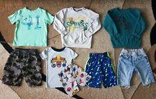 Lot of 8 Boy's Clothing Trunks Sleepwear Top Shorts Sweatshirt Size 4-5