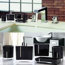 5PCS/Set Bathroom Accessories Cup Toothbrush Holder Soap Dish Emulsion Bottle