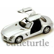 Kinsmart Mercedes Benz SLS Amg Gullwing 1:36 Diecast Toy Car Silver KT5349D