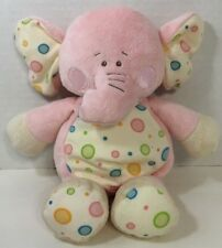 baby Ganz Gumdrop elephant plush rattle pink white polka dots blue green orange