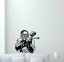 Paintball Player Wall Decal Poster Sports Vinyl Sticker Gym Decor Mural 224hor